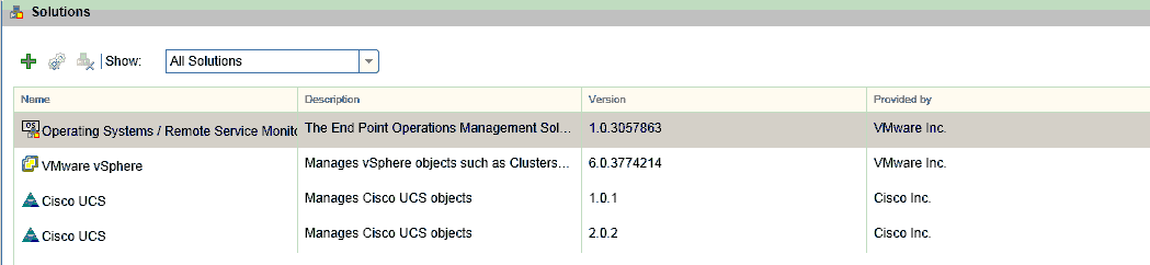 Removing a Solution from vRealize Operations Manager 6 x